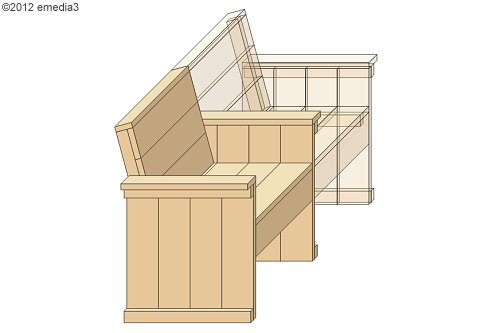 Gartenlounge sessel bauanleitungen holzland for Holz sitzbank selber bauen