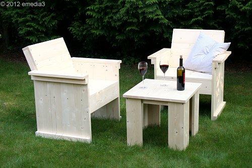 gartenlounge tische bauanleitungen holzland. Black Bedroom Furniture Sets. Home Design Ideas